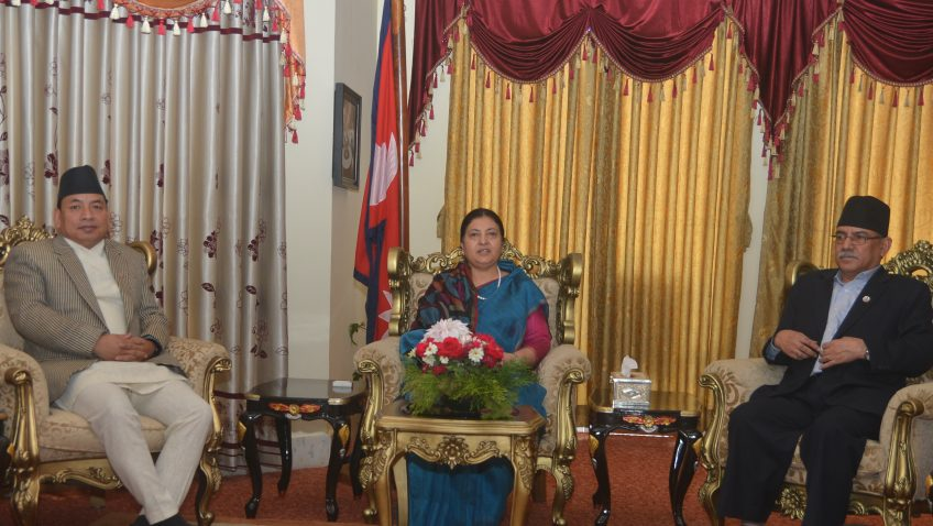 pm-dahal-meets-president-bhandari-and-vice-president-pun